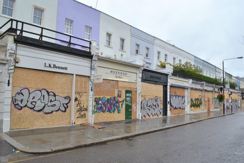 Il lusso imbarcato compera carnevale di Notting Hill fotografia stock libera da diritti