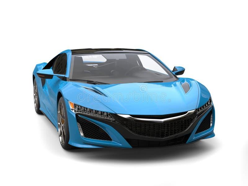 Il lusso moderno blu di Dodger mette in mostra il colpo automobilistico di bellezza royalty illustrazione gratis