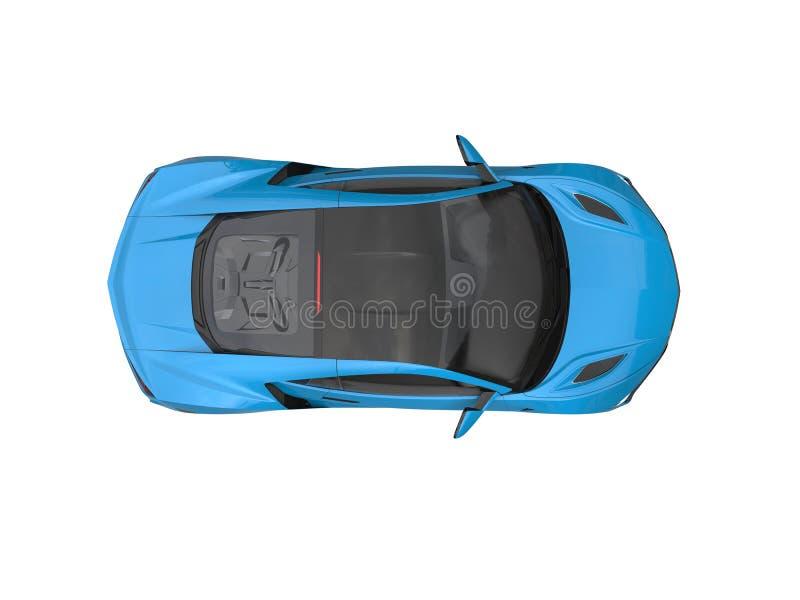 Il lusso moderno blu di Dodger mette in mostra la cima automobilistica giù osserva royalty illustrazione gratis