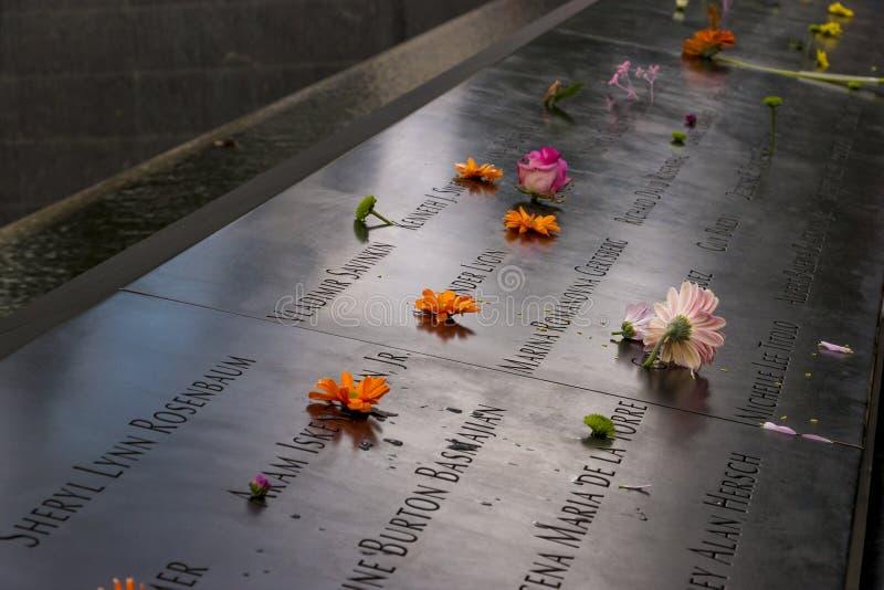 il mémorial national du 11 septembre photo stock