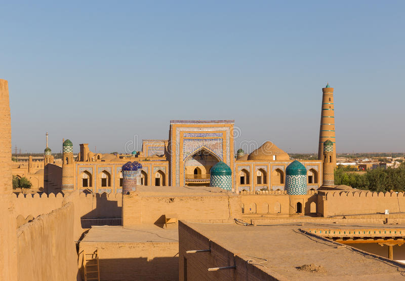 Il madrassah di Maometto Rahim-khan in Khiva, l'Uzbekistan immagine stock libera da diritti