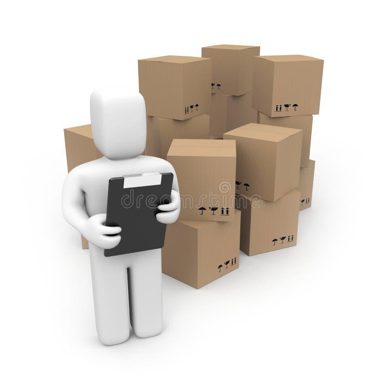 Download Il Magazzino Assiste Il Concetto Illustrazione di Stock - Illustrazione di pacchetto, clip: 7314513