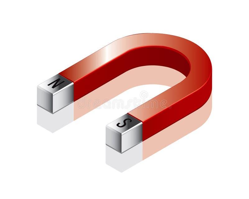 Il magnete a ferro di cavallo ha impostato 1 illustrazione vettoriale