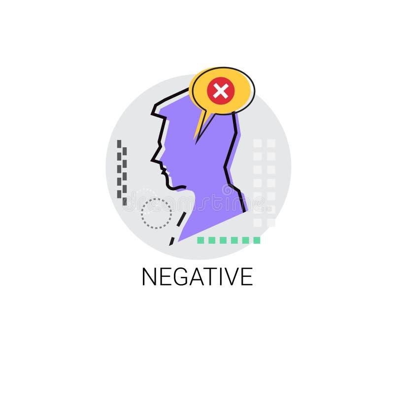 Il Male negativo ha disapprovato avatar dell'icona di profilo illustrazione vettoriale