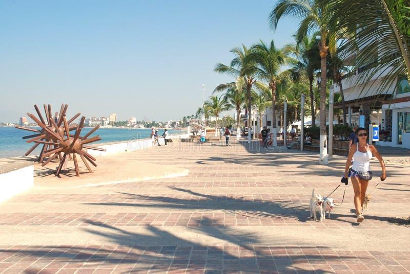 Il Malecón in Puerto Vallarta, Messico II fotografia stock