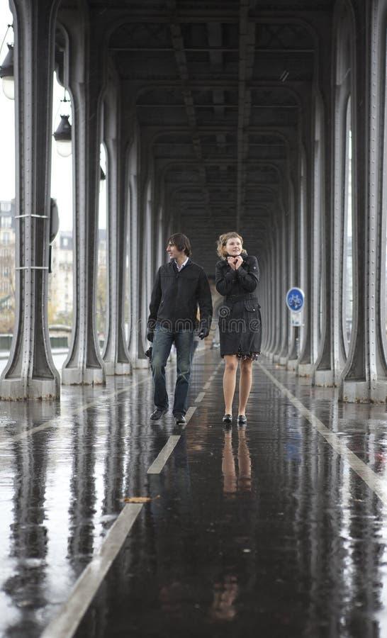 Il maltempo a Parigi immagini stock libere da diritti