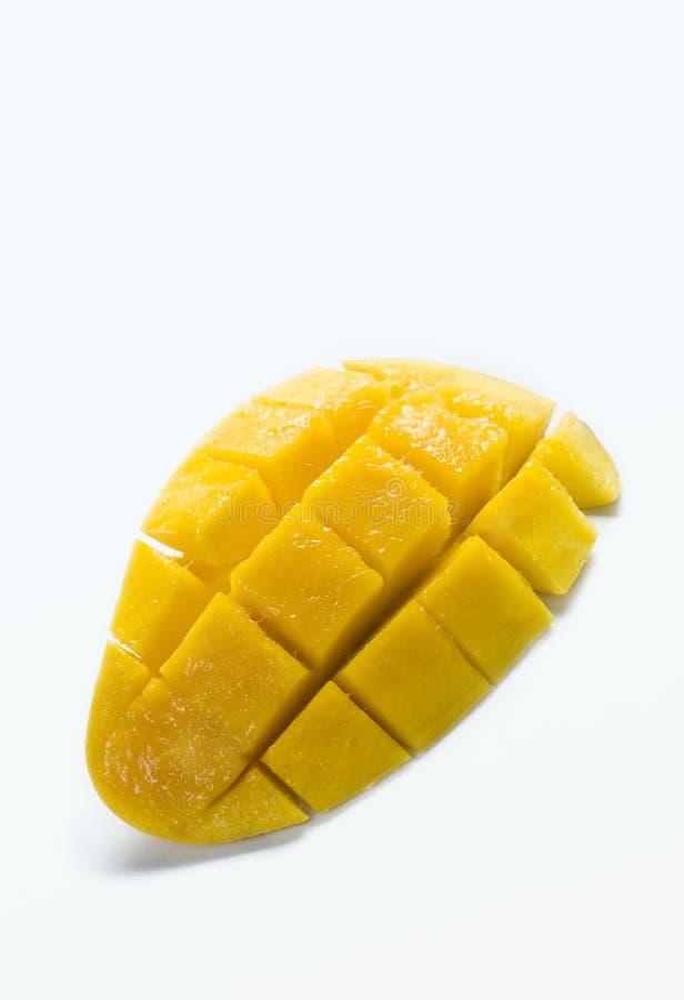 Il mango fresco ha affettato fotografie stock libere da diritti
