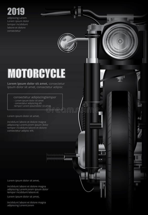 Il manifesto Chopper Motorcycle ha isolato illustrazione vettoriale