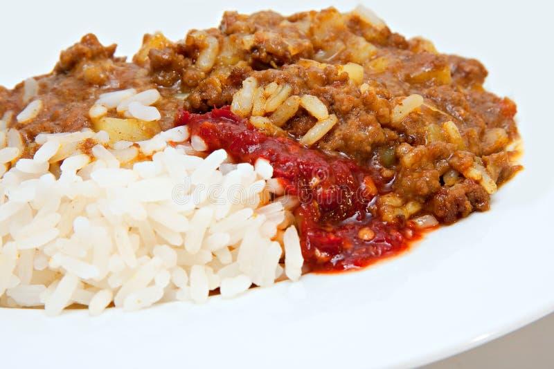 Il manzo trita il curry fotografia stock