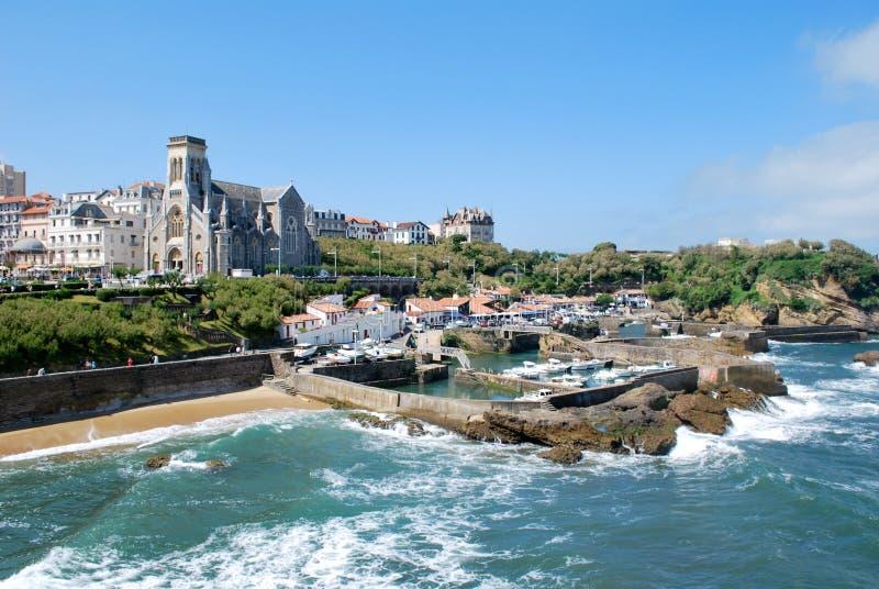 Il mare a Biarritz durante l'estate fotografia stock