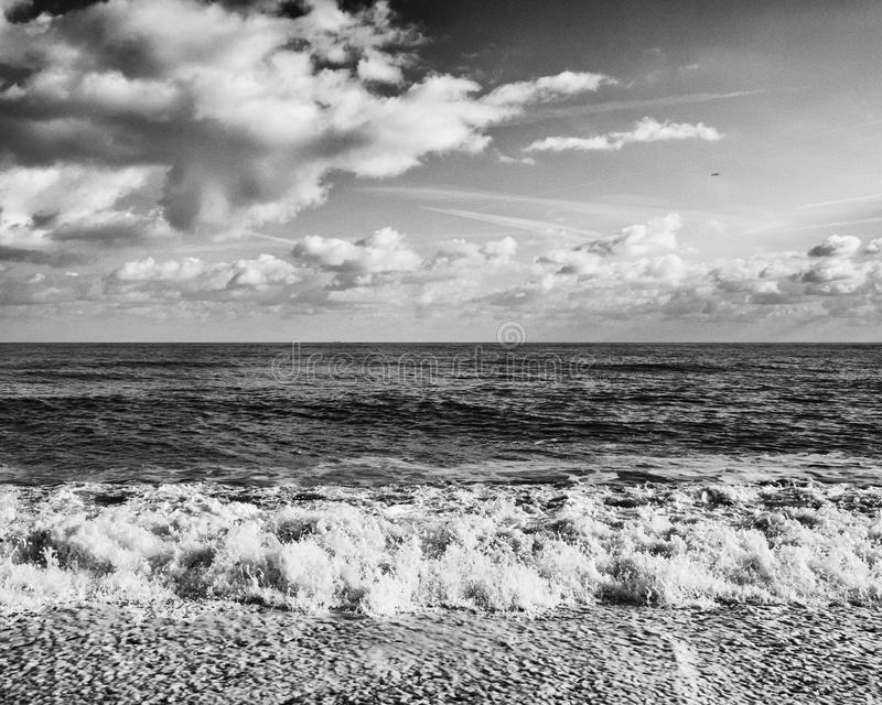 Il Mare del Nord, Aldeburgh, Suffolk, Inghilterra immagini stock