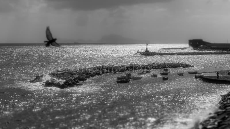 Il mare dell'inverno gradisce un sogno fotografia stock