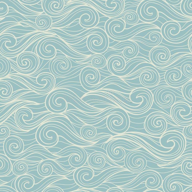 Il mare ondeggia il modello senza cuciture illustrazione vettoriale