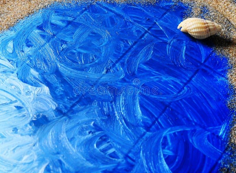 Il mare in un piatto di plastica fotografie stock libere da diritti