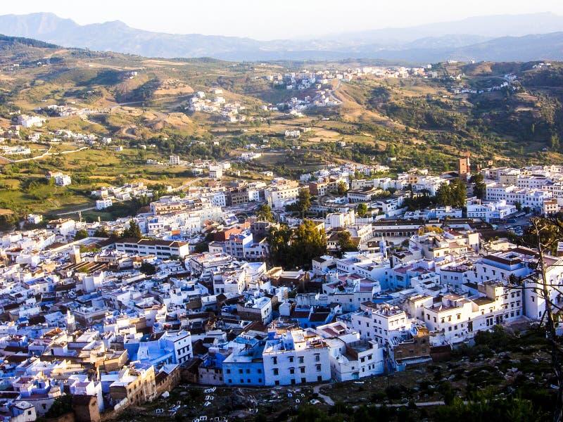 Il Marocco chaouen la natura del landsccape della città fotografie stock libere da diritti