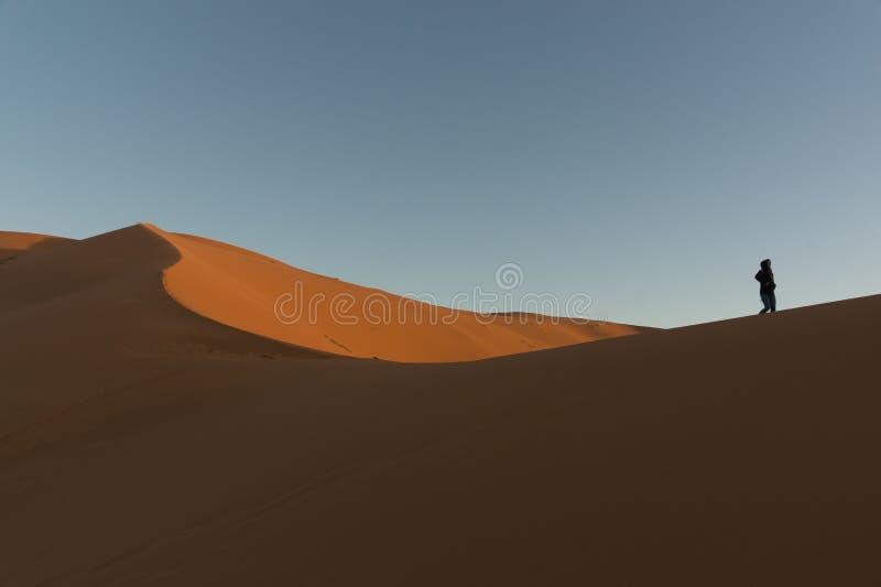 Il Marocco - deserto del Sahara, il posto più caldo su terra fotografia stock libera da diritti