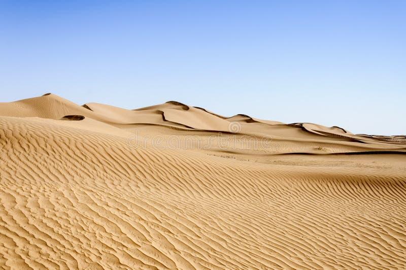 Il Marocco, Hamada du Draa, dune di sabbia immagine stock libera da diritti