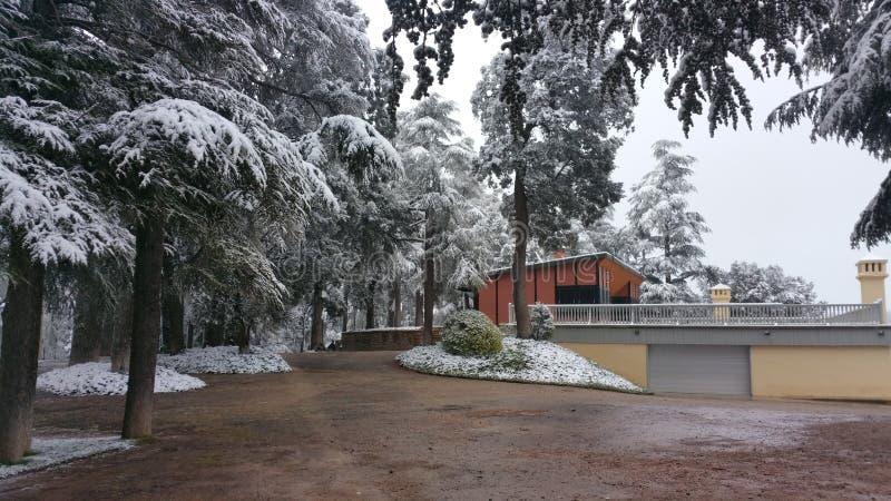Il Marocco la neve fotografia stock libera da diritti