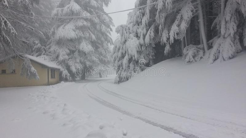 Il Marocco la neve fotografie stock