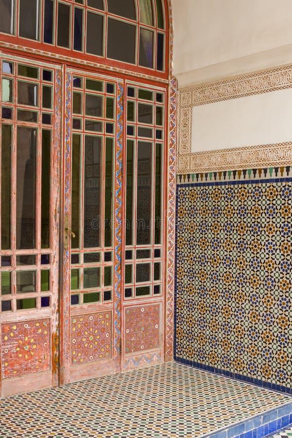 Il Marocco, Marrakesh, EL Badi Palace, mosaico fotografia stock