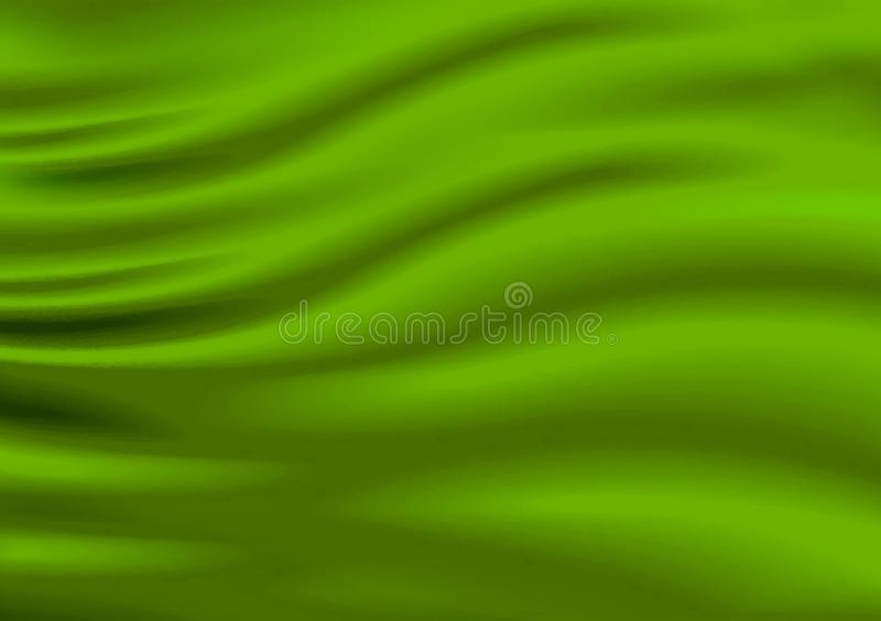 Il materiale del tessuto colorato raso verde ha progettato il fondo immagine stock libera da diritti