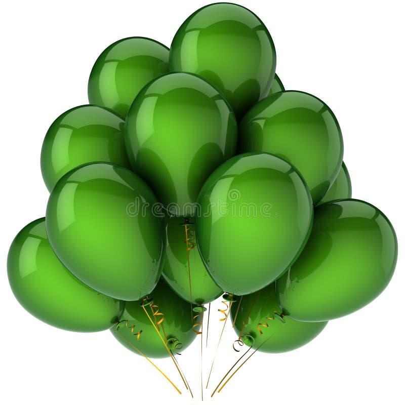 Il mazzo di partito balloons (noleggi) illustrazione di stock