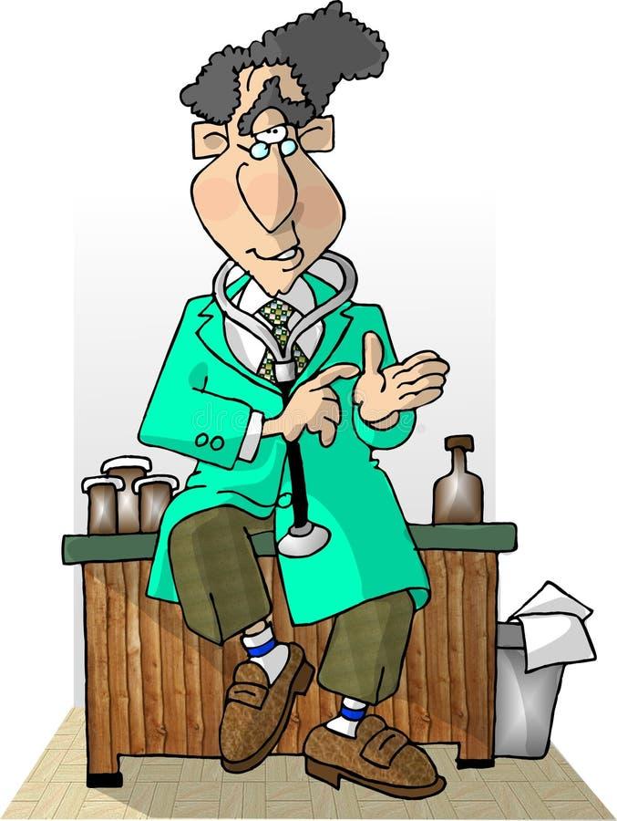Il medico è in II illustrazione di stock