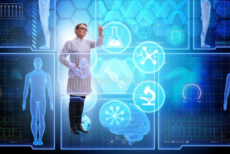 Download Il Medico Della Donna Nel Concetto Futuristico Di Telemedicina Fotografia Stock - Immagine di salute, ricerca: 117976154