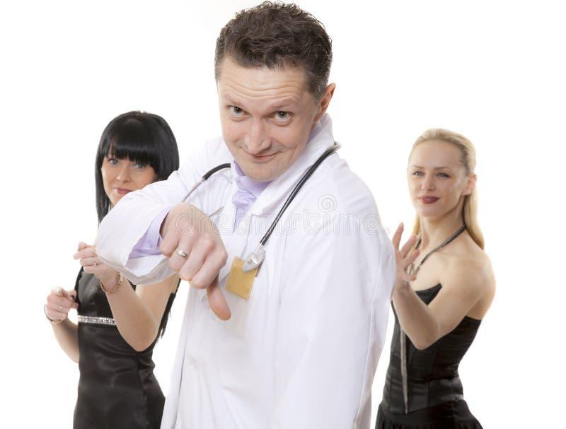 Il medico non suggerisce immagine stock