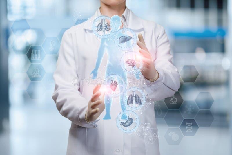 Il medico regola la salute della persona immagini stock libere da diritti