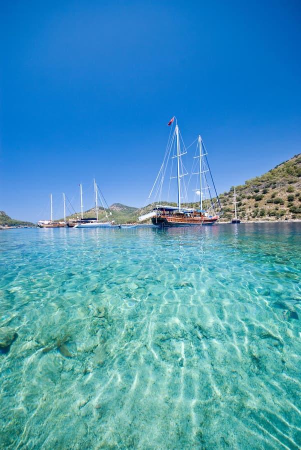 Il Mediterraneo turco fotografie stock
