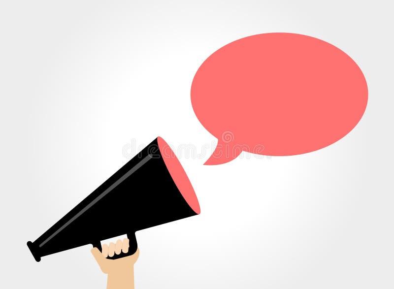 Il megafono annuncia illustrazione di stock