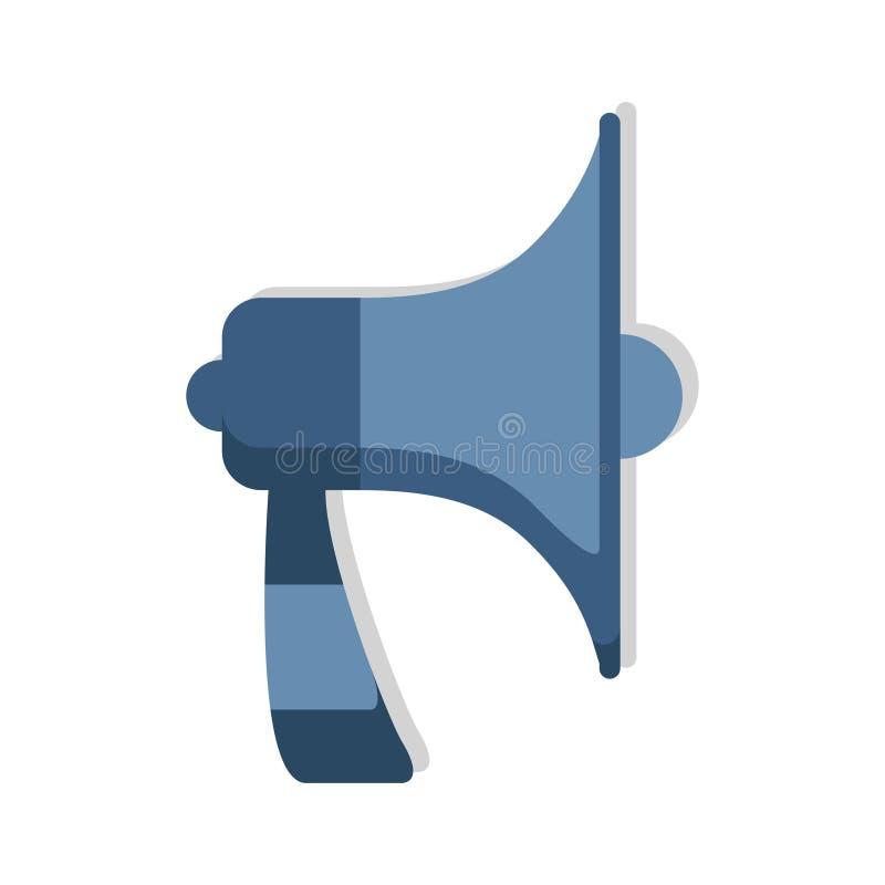 Il megafono, vettore dell'altoparlante di annuncio dell'icona dell'altoparlante ha isolato illustrazione di stock