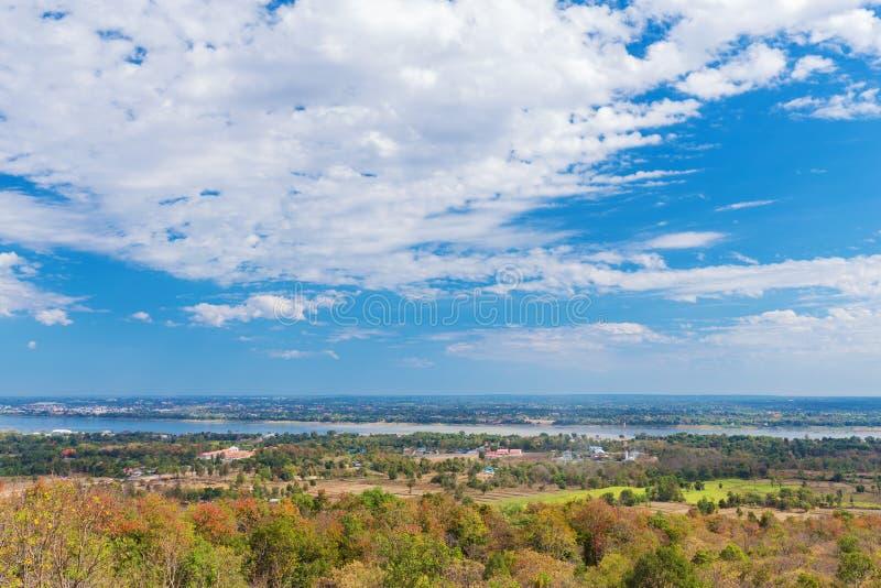 Il Mekong a Mukdahan, Tailandia fotografia stock libera da diritti