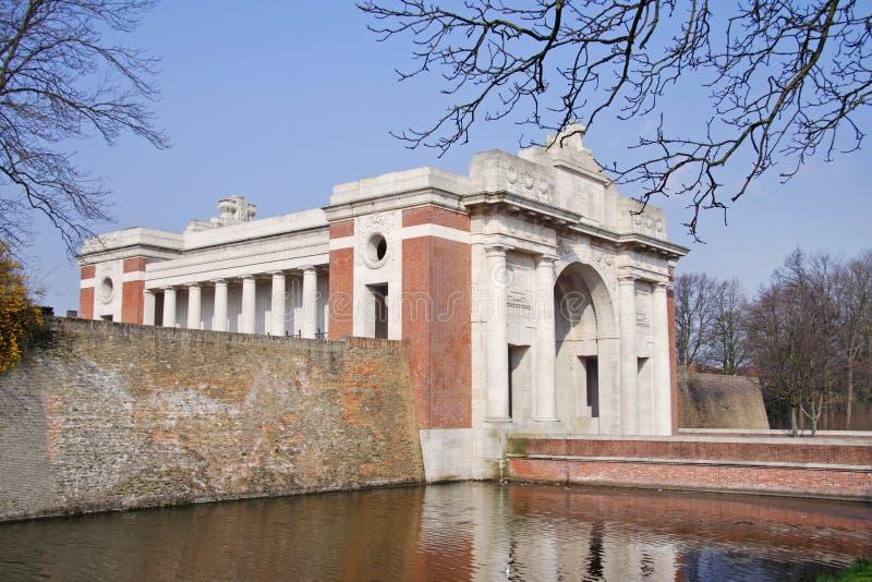 Il memoriale del cancello di Menin nel Belgio fotografie stock