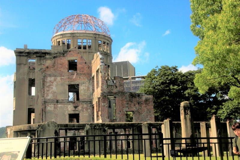 Il memoriale della cupola della bomba atomica immagini stock