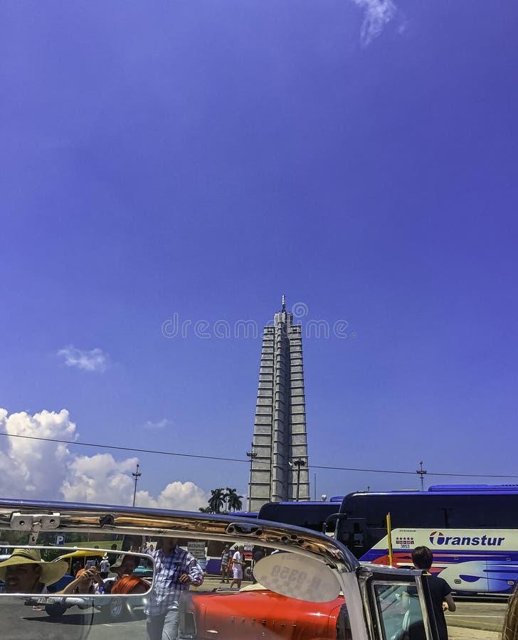 Il memoriale di José Martà - quadrato di rivoluzione, Avana, Cuba fotografia stock