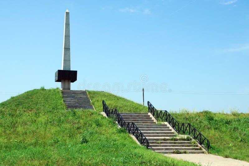 Il memoriale militare dei soldati dell'occidentale e riserva il ` del palo di Bogoroditskoe del ` delle parti anteriori, il villa fotografie stock