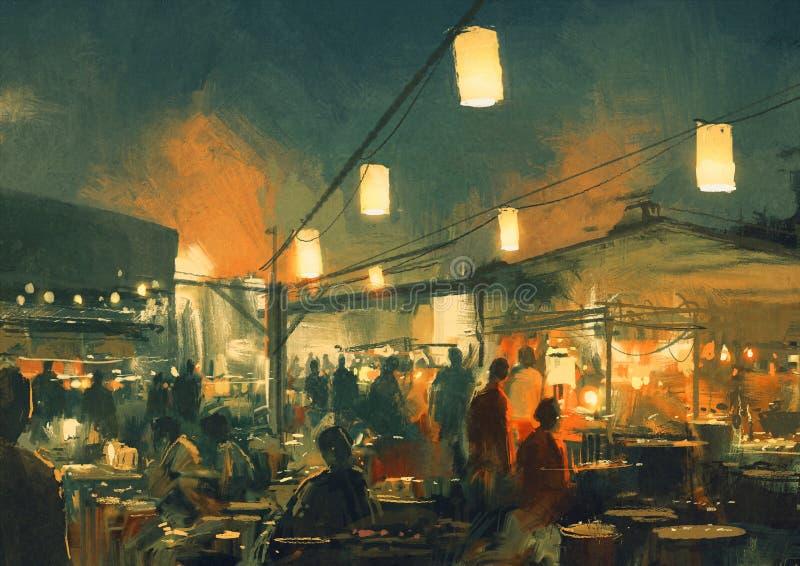 Il mercato alla notte royalty illustrazione gratis