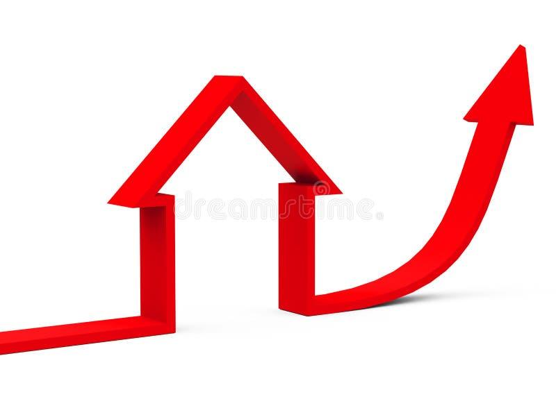 Il mercato degli alloggi illustrazione vettoriale