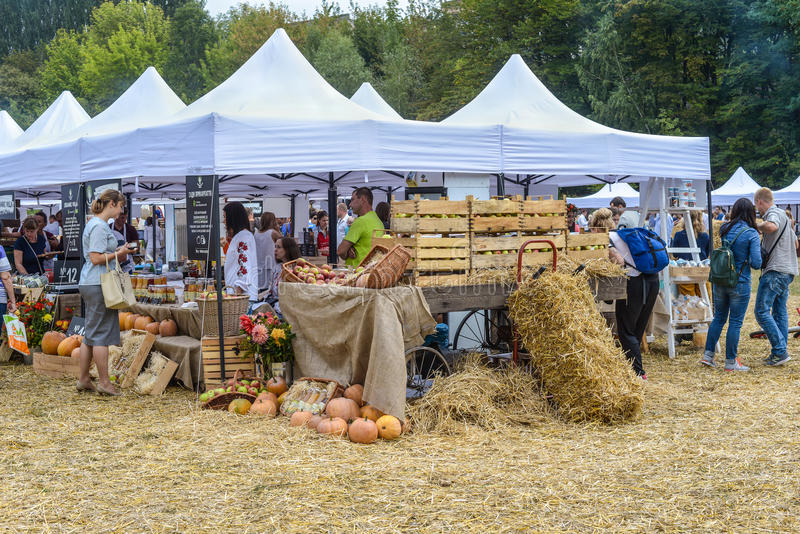 Il mercato dell'agricoltore all'Ucraina immagini stock libere da diritti