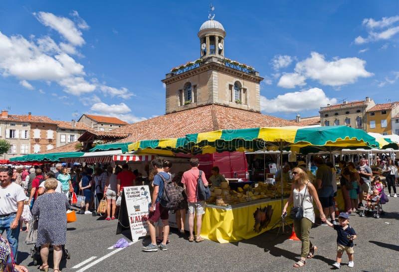 Il mercato dentro gode, la Francia immagine stock