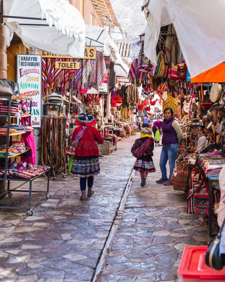 Il mercato di Pisac nel Perù fotografia stock libera da diritti