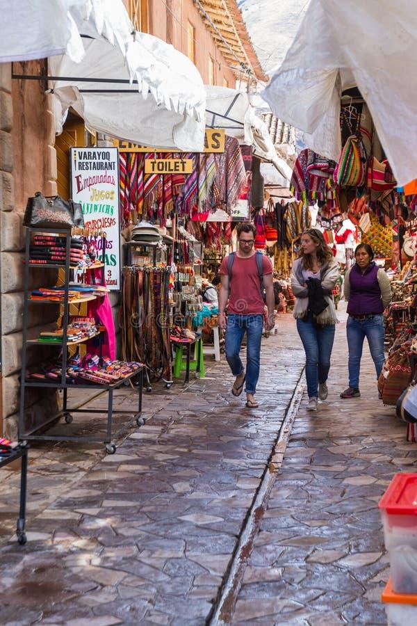 Il mercato di Pisac nel Perù immagini stock libere da diritti