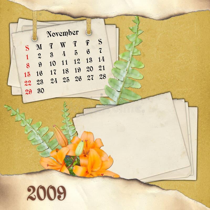Il mese di novembre. illustrazione di stock