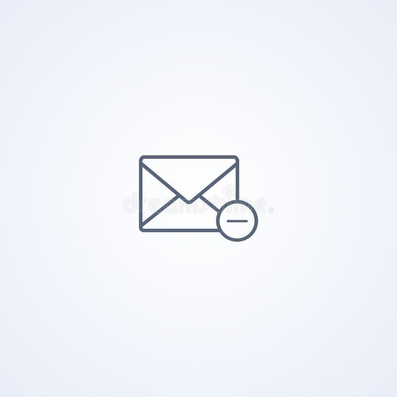 Il messaggio rimuove, migliore linea grigia icona di vettore illustrazione vettoriale