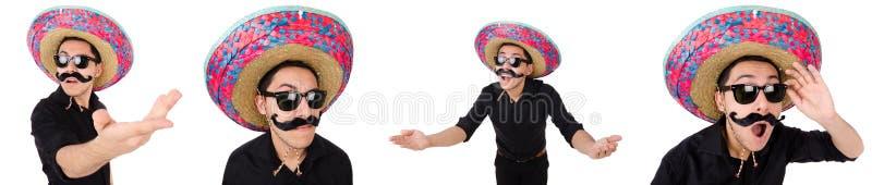 Il messicano divertente con il sombrero nel concetto immagine stock