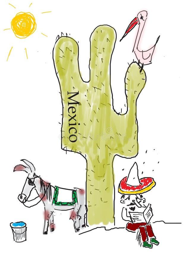 Il Messico illustrazione di stock