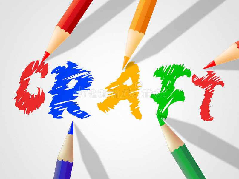 Il mestiere dei bambini significa il disegno e lo scultore del giovanotto illustrazione di stock