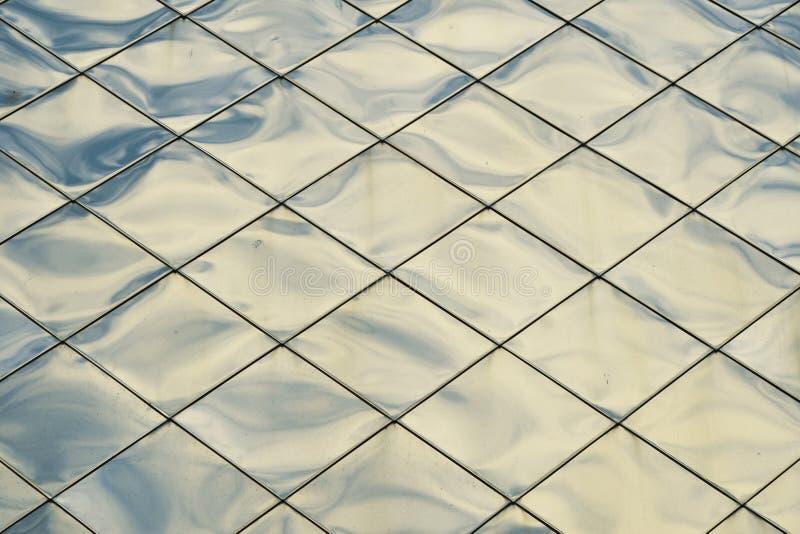 Il metallo blu d'argento riveste il fondo di pannelli di struttura fotografia stock libera da diritti